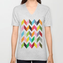 Ziggy chevron Unisex V-Neck