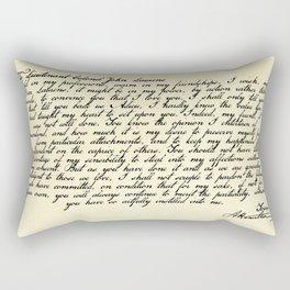 Alexander Hamilton Letter to John Laurens Rectangular Pillow