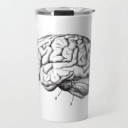 Human Brain Sideview Anatomy Detailed Illustration Travel Mug