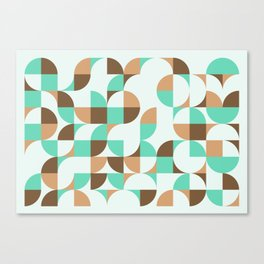 Mint and Chocolate Fresh Pattern Canvas Print