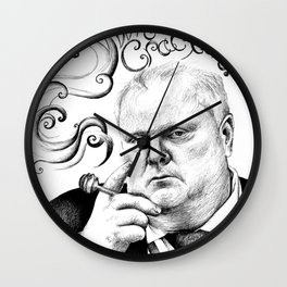 Rob Ford What's Crackin? Toronto Wall Clock