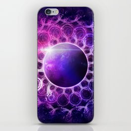 Deep Dream Fractal Mandala - Deep Space Galaxy Dreamer iPhone Skin