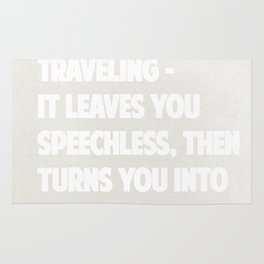 """Ibn Battuta  """"Traveling – it leaves you speechless, then turns you into a storyteller."""" – Rug"""