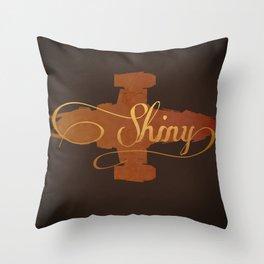 Shiny!  Throw Pillow