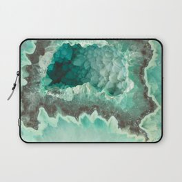 Minty Geode Crystals Laptop Sleeve