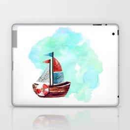 Ship in the Watercolor Laptop & iPad Skin