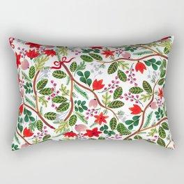 Christmas Floral Pattern Rectangular Pillow