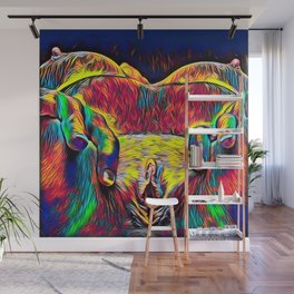 881-HW Abstract Pop Color Erotica Explicit Psychedelic Yoni Pearl in Pussy Wall Mural