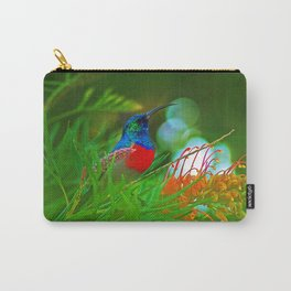 Hummingbird with iridescent colours Carry-All Pouch