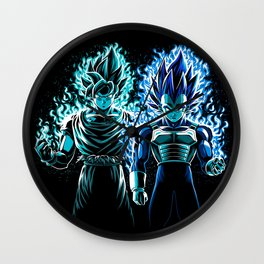 Blue God Warriors Wall Clock