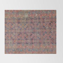 Traditional vibrant rug Throw Blanket