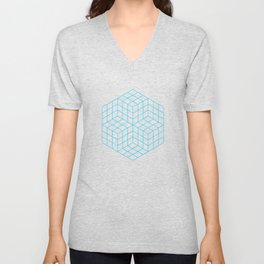 Vasarely cubes Unisex V-Neck
