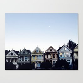 Moonlit Painted Ladies Canvas Print