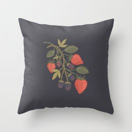 Berry Season Throw Pillow