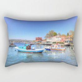 Boats on The Bosphorus Istanbul Rectangular Pillow
