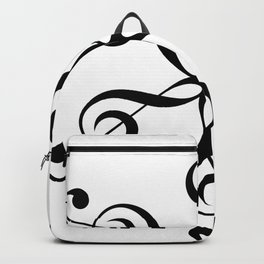 Treble Clef Hexaflower Backpack