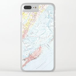 Vintage Map of Ocean City NJ (1952) Clear iPhone Case