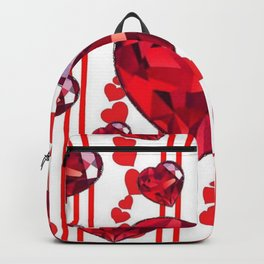 RED VALENTINES & RUBY HEARTS  DESIGN Backpack