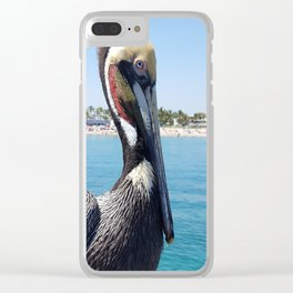 Fort Lauderdale Pier Pelican Clear iPhone Case