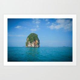 Castaway in Thailand Art Print