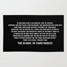 School of Hard Knocks Rug