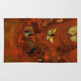 "Odilon Redon ""Evocation of butterflies"" Rug"