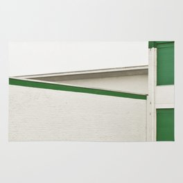 green architecture Rug