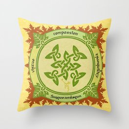 Circle of the Enlightened - Ivy Throw Pillow