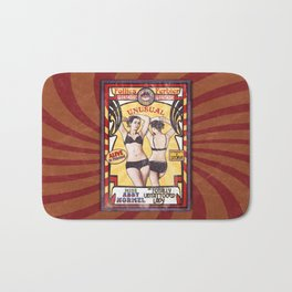 """""""Miss Abby Normel- the Totally Untattooed Lady"""" sideshow poster Bath Mat"""