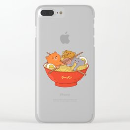 Ramen and cats Clear iPhone Case