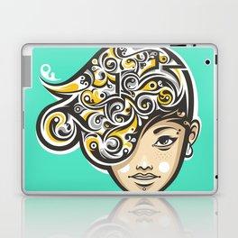 Swirly thoughts Laptop & iPad Skin