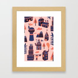 A Little Town Framed Art Print