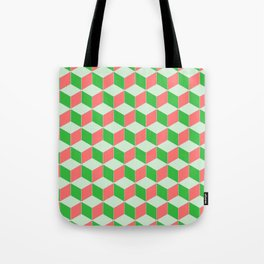 Christmas Escher Print Tote Bag