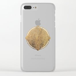 Gold Squircle Clear iPhone Case