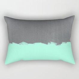 Mint Paint on Concrete Rectangular Pillow