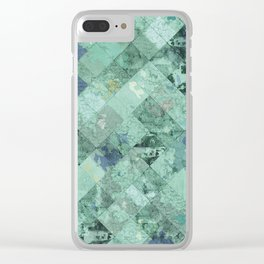 Abstract Geometric Background #31 Clear iPhone Case