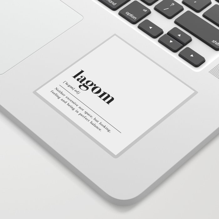 Lagom Definition Sticker