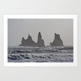 Black Beach  Art Print