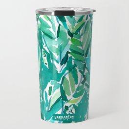 BANANA LEAF JUNGLE Green Tropical Travel Mug
