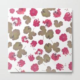 seamless   pattern of geranium flowers . Endless texture Metal Print