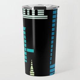 New York Skyline One WTC Poster Black Travel Mug