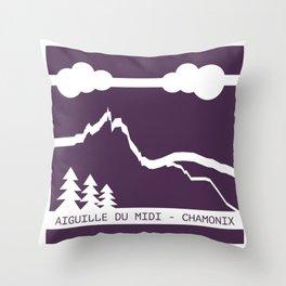 Aiguille du Midi Throw Pillow