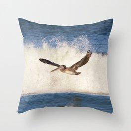 marina pelican Throw Pillow