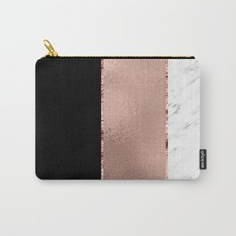 Rose metallic striping - marble and onyx Carry-All Pouch