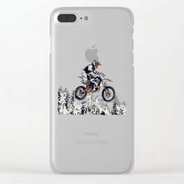 """High Flyer"" Motocross Racer Clear iPhone Case"