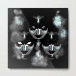 Blowing Smoke Metal Print