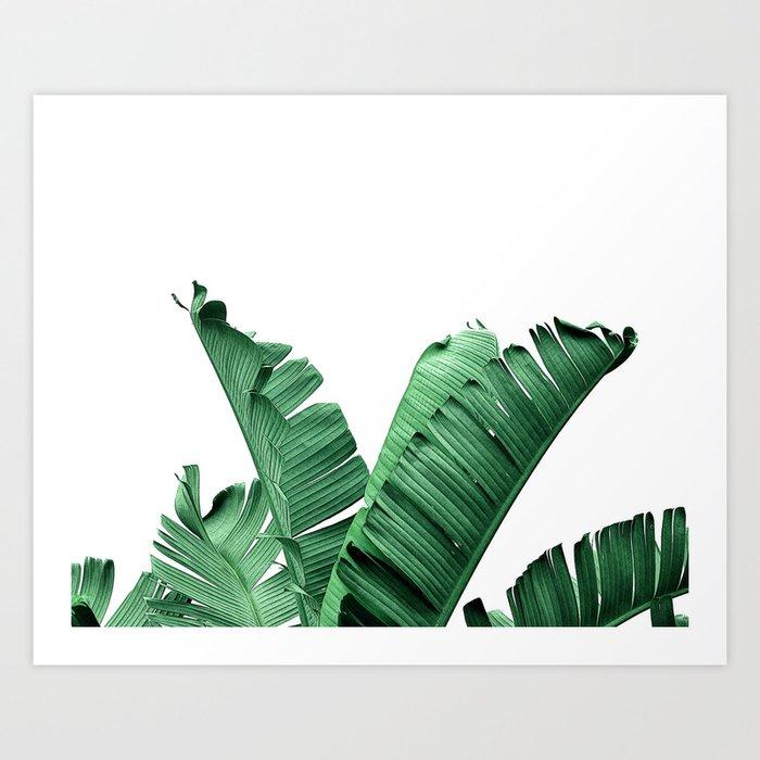 tropic banana leaf art print by nordik society6