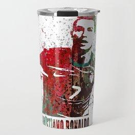 Cristiano Ronaldo #CristianoRonaldo art 2 Travel Mug