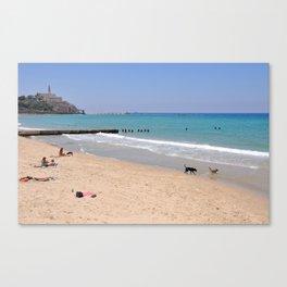 Alma Beach, Tel-Aviv Canvas Print