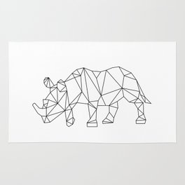 Geometric Rhino Design Rug